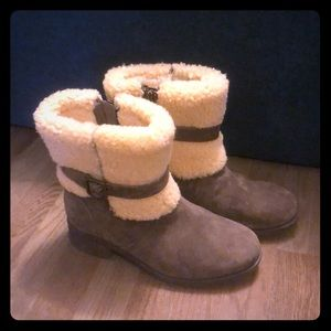 UGG Suede Sherpa Boots